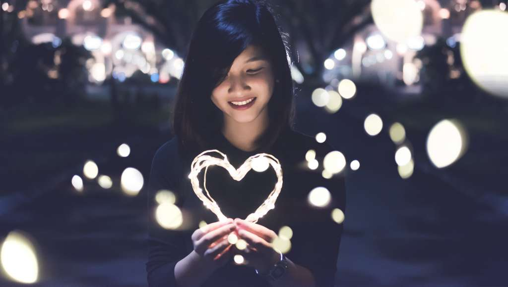 Girl with light heart