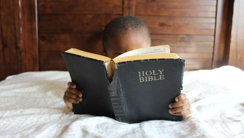 Bible child bed