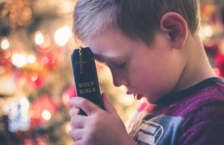 Boy Bible Praying