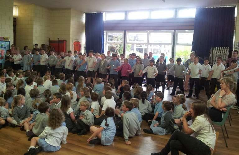 Children doing Haka
