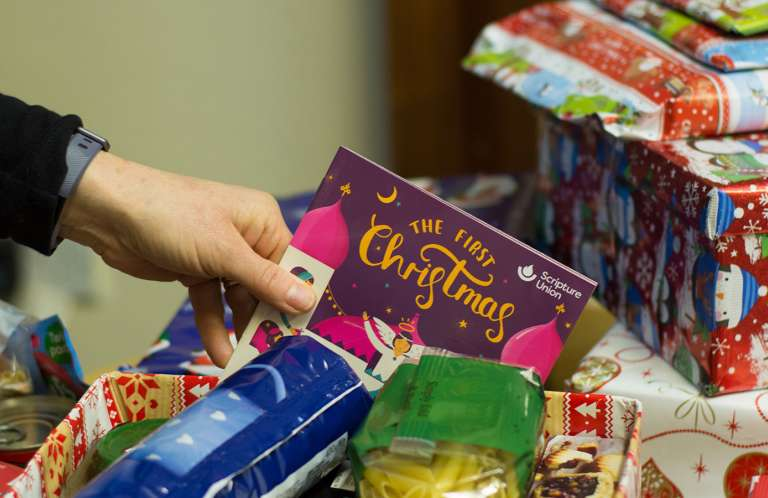 The first Christmas in a foodbank hamper