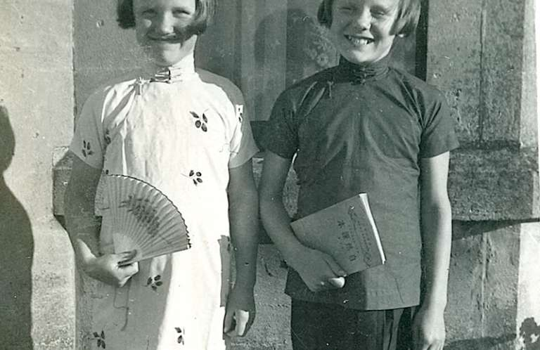 Brenda as a child with her sister