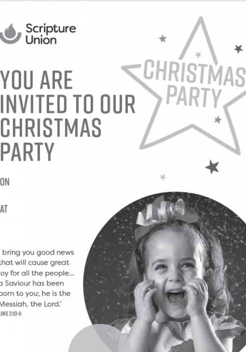Black & White Christmas Party Poster