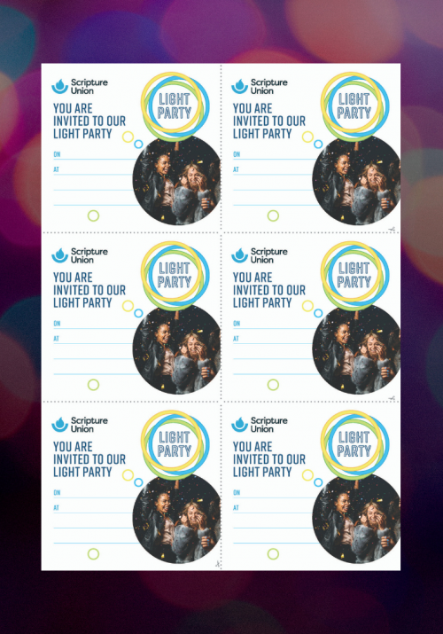 Light Party Invitations - Youth