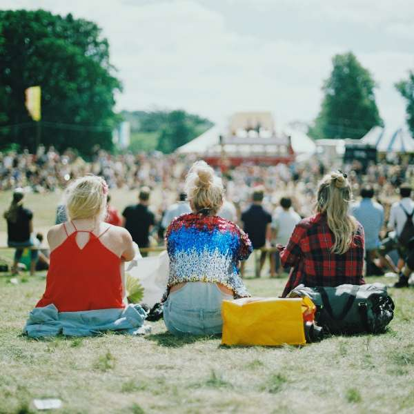 Youth festival in a field
