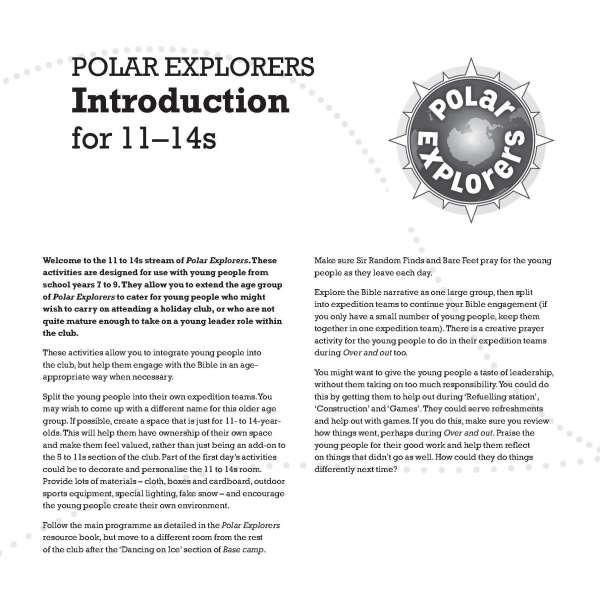 Polar Explorers 11 to 14s