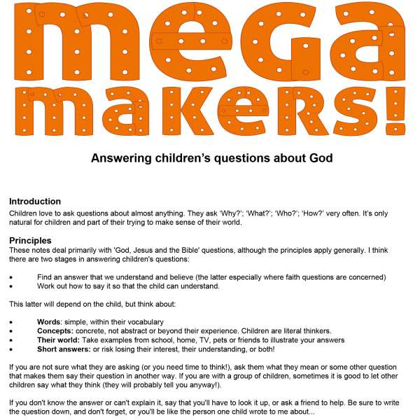 Mega Makers Answering children's questions