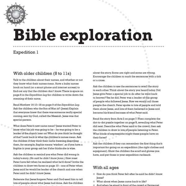 Polar Explorers Bible exploration