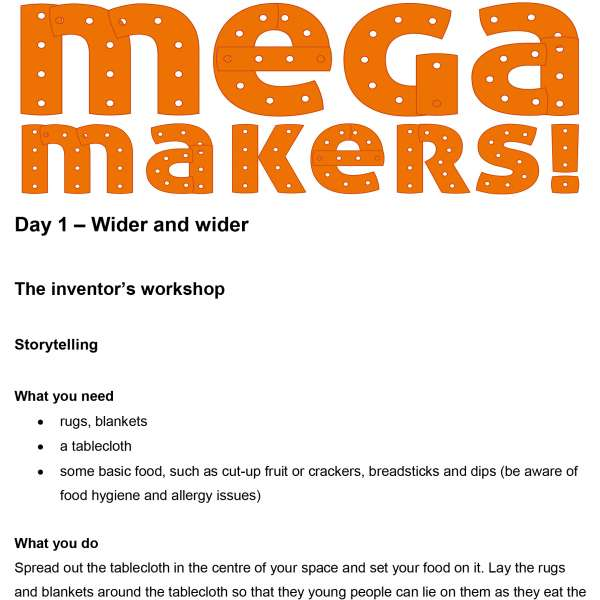 Mega Makers! 11 to 14s: Day 1