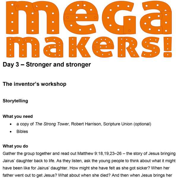Mega Makers! 11 to 14s: Day 3