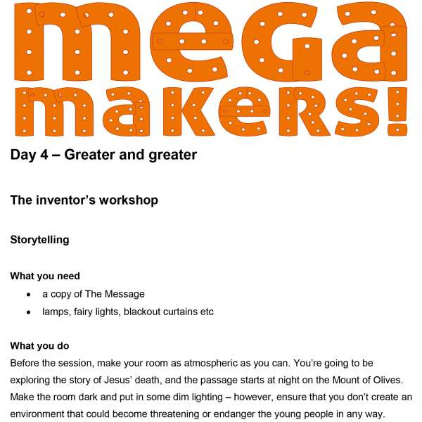 Mega Makers! 11 to 14s: Day 4