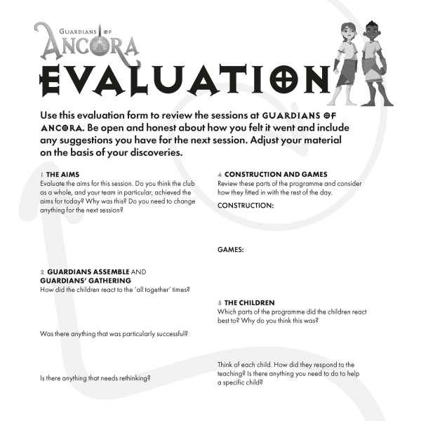Guardians of Ancora evaluation form