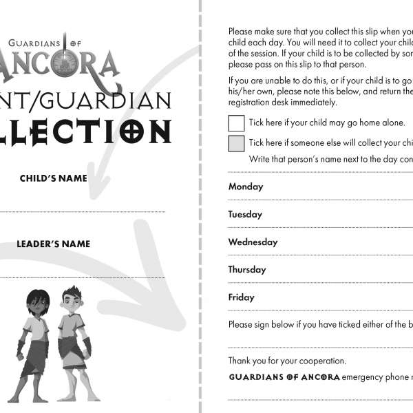 Guardians of Ancora collection slips