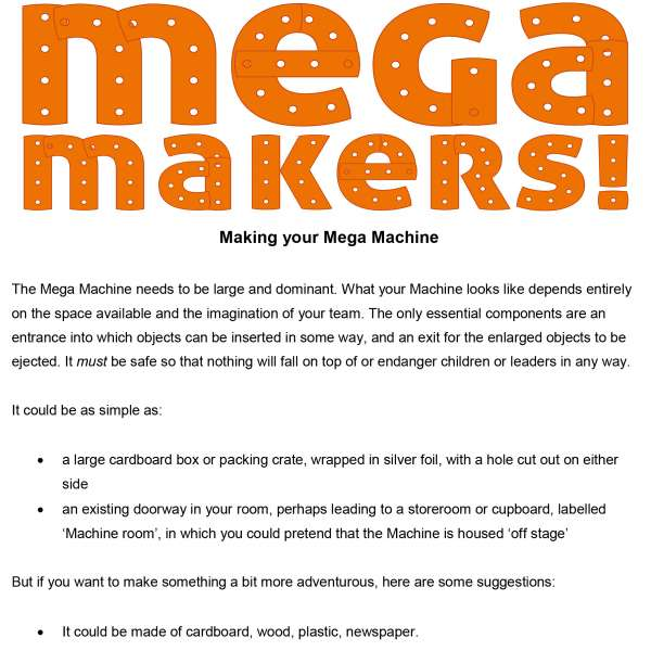 Ideas for making a Mega Machine
