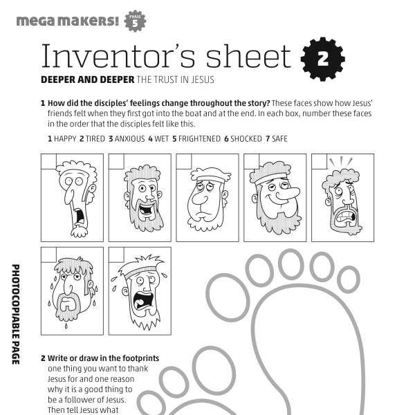 Mega Makers! Inventor's sheet 2