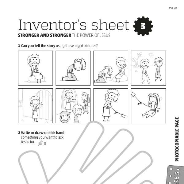 Mega Makers! Inventor's sheet 3
