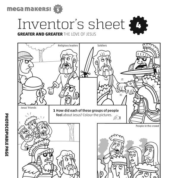 Mega Makers! Inventor's sheet 4