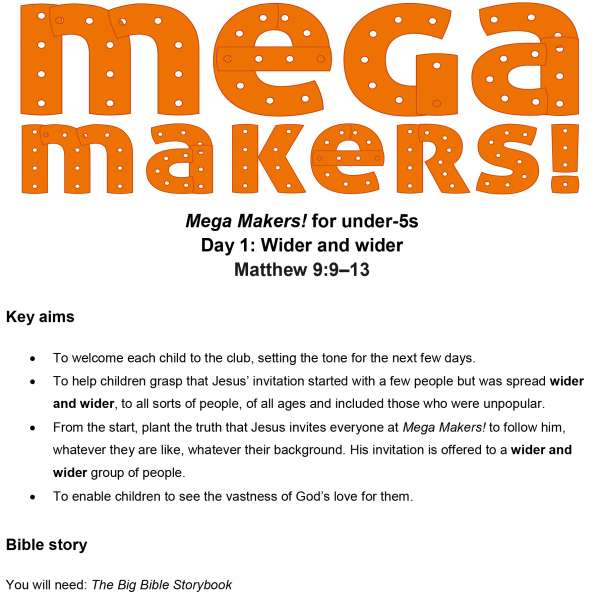 Mega Makers! Under-5s: Day 1
