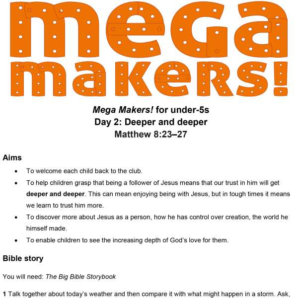 Mega Makers! Under-5s: Day 2