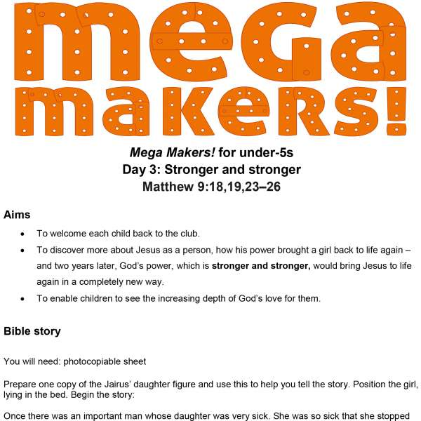 Mega Makers! Under-5s: Day 3