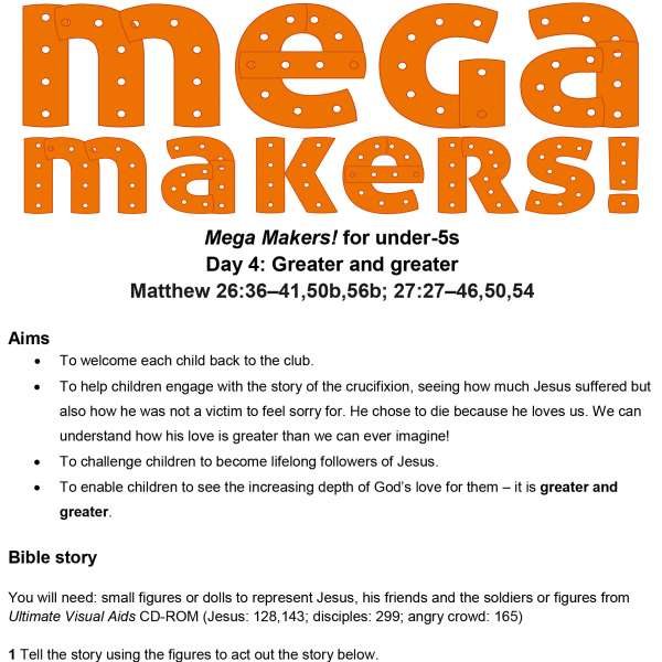 Mega Makers! Under-5s: Day 4