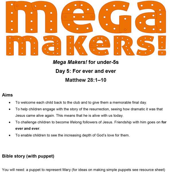 Mega Makers! Under-5s: Day 5