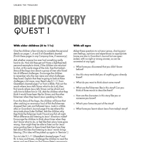 Guardians of Ancora Bible discovery Quest 1