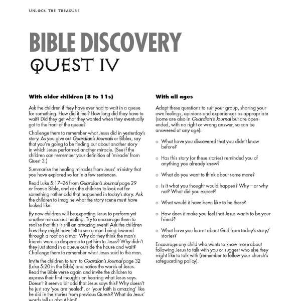 Guardians of Ancora Bible discovery Quest 4