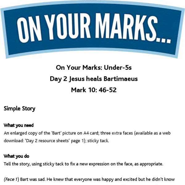 On Your Marks Under-5s: Day 2