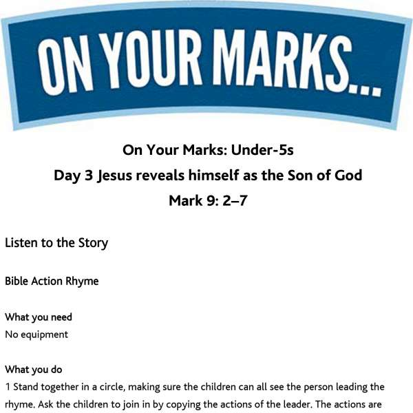 On Your Marks Under-5s: Day 3