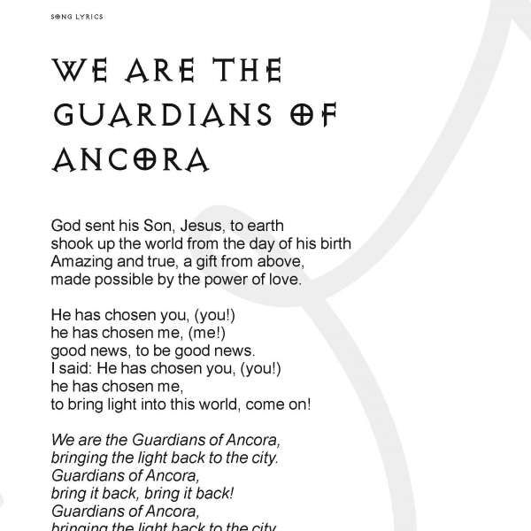 'We are the Guardians of Ancora' lyrics
