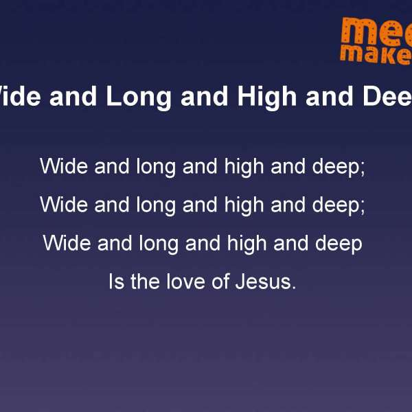 Mega Makers 'Wide and long' song words