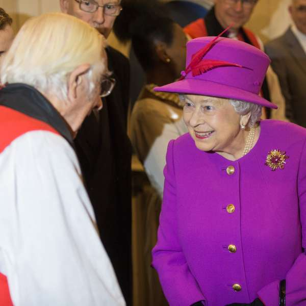 Her Majesty The Queen meets Timothy Dudley-Smith
