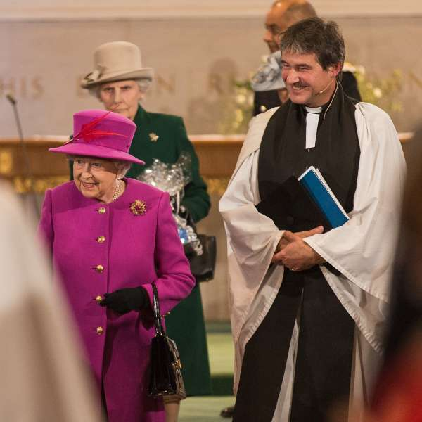 Tim Hastie-Smith and HRH The Queen