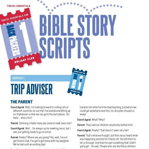 Backpackers: Bible story scripts