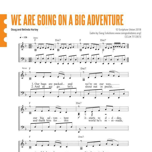 Big Adventure sheet music