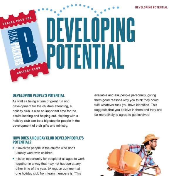 Backpackers: Developing potential