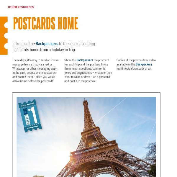 Backpackers: Postcards home