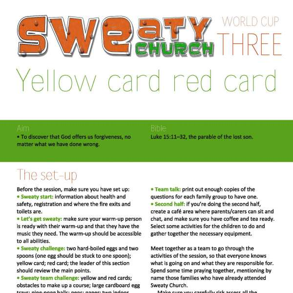 Sweaty Church: Red card