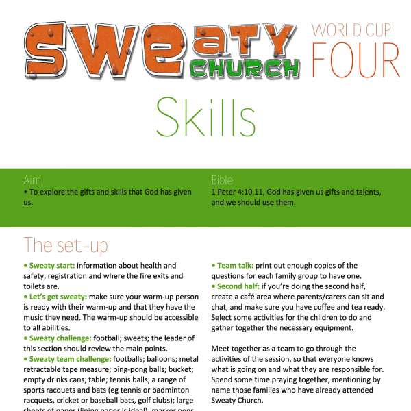 Sweaty Church: Skills