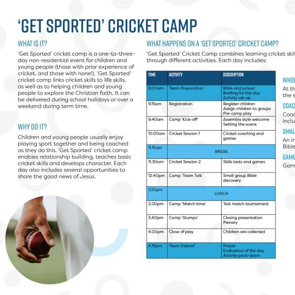 Get Sported cricket camp