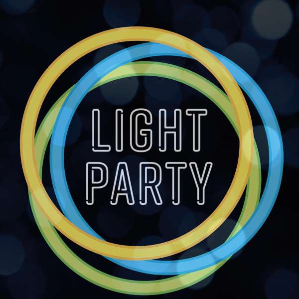 Light Party logo for dark backgrounds example