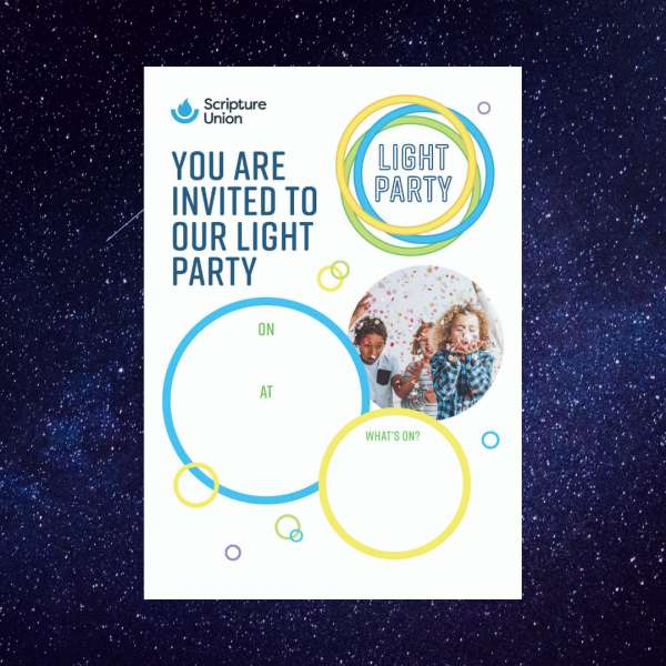 Light Party Poster - Children