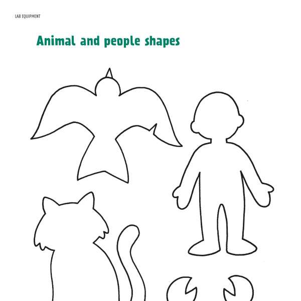 Animal and people shapes