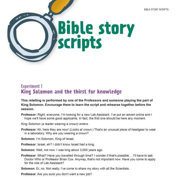 Bible story scripts