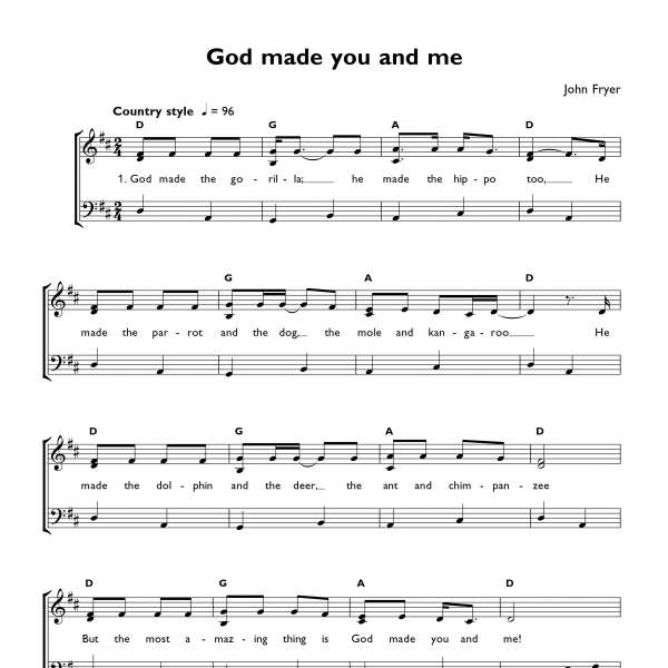 God made you and me