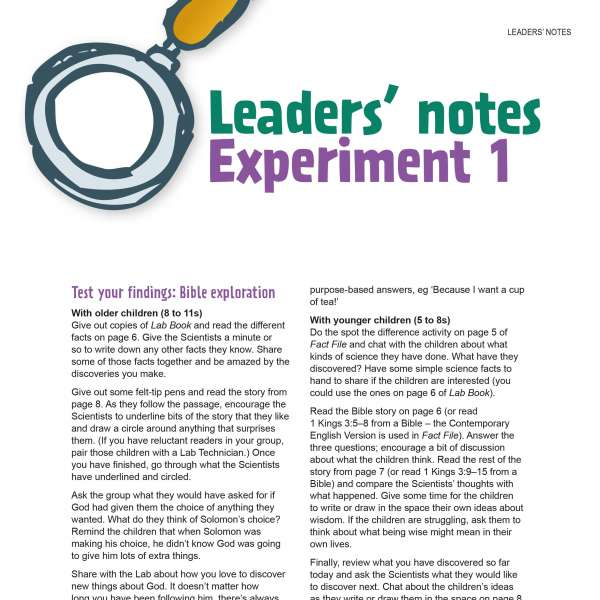 Leaders' notes
