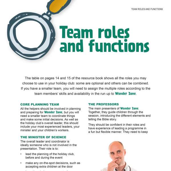 Team roles and functions