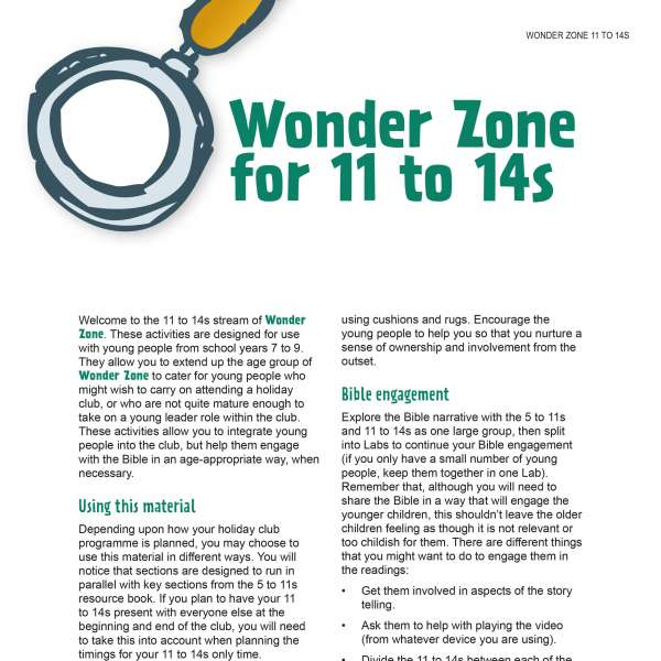 Wonder Zone 11 to 14s