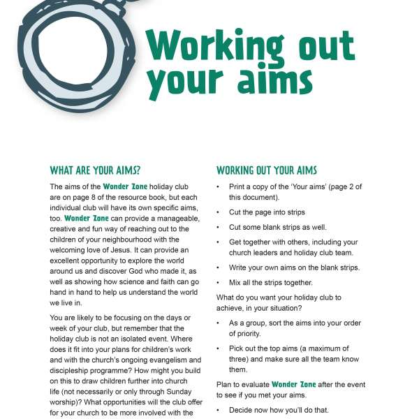 Working out your aims
